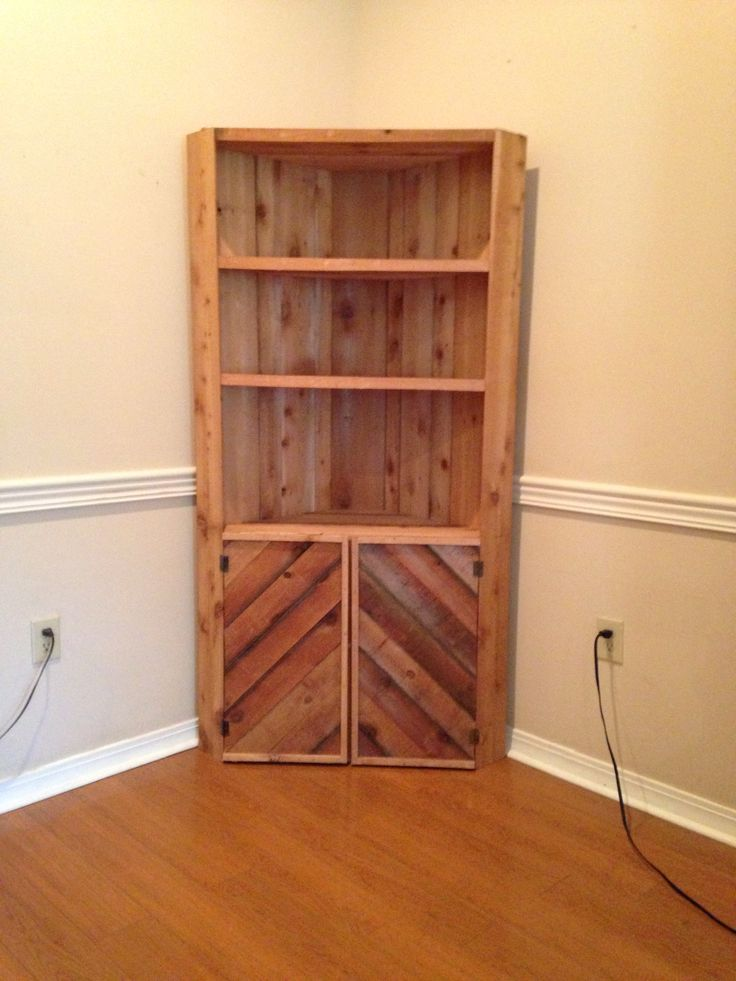 Wooden Cedar Rough Cut Corner Cabinet Woodn T It Be Nice