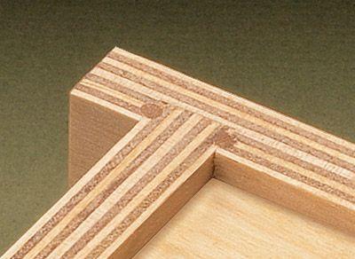 Bloqueo de frisos con una espiga de madera o de aluminio parece una gran idea para los frentes de los cajones