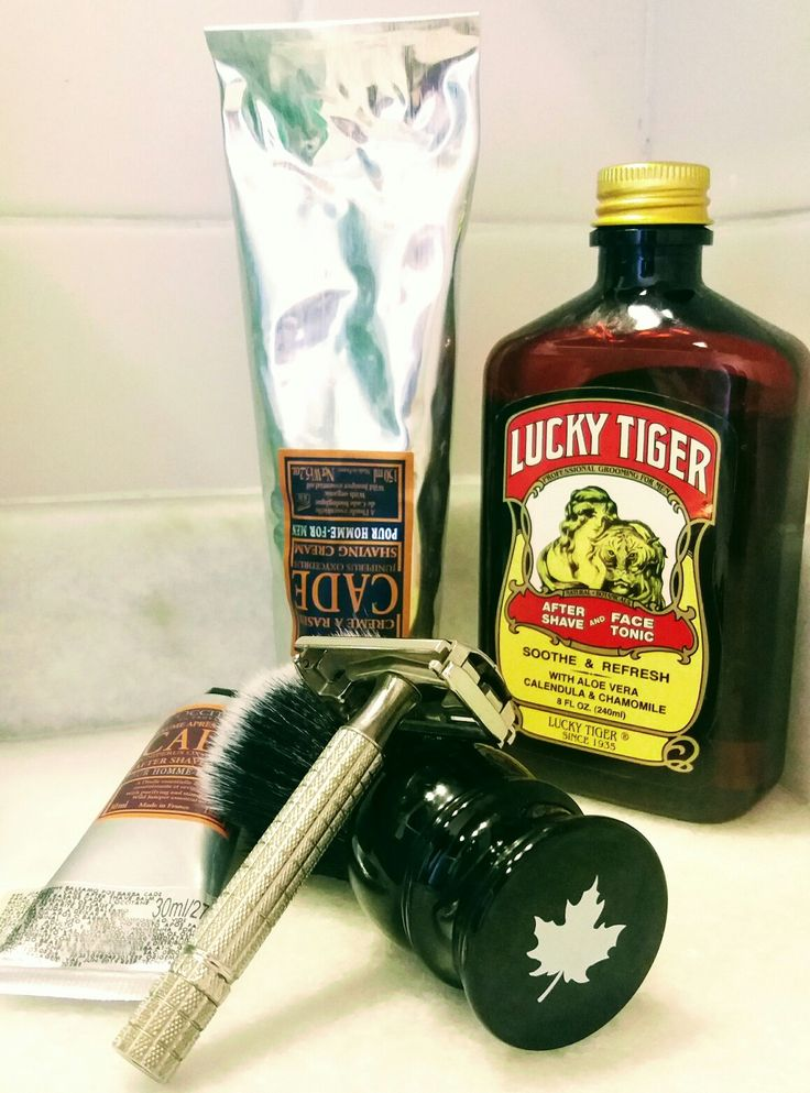 Cade For Men | Lucky Tiger After Shave and Face Tonic | Maggard Razors 24mm Black and White Synthetic Shaving Brush