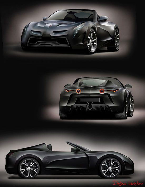 Pontiac Solstice by Dejan Hristov Car concept Design. Vehicle For The Future