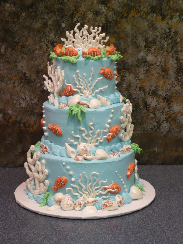 really cute underwater cake