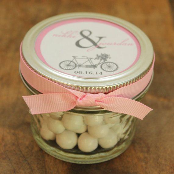 Set of 24  4 oz Mason Jar Wedding Favors  Tandem by thefavorbox, $66.00