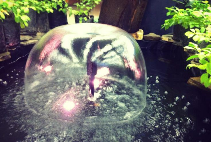 The mushroom fountain nozzle. Inexpensive creative solution to your pond!
