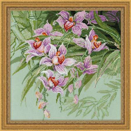 Tropical Orchids - Cross Stitch Kit