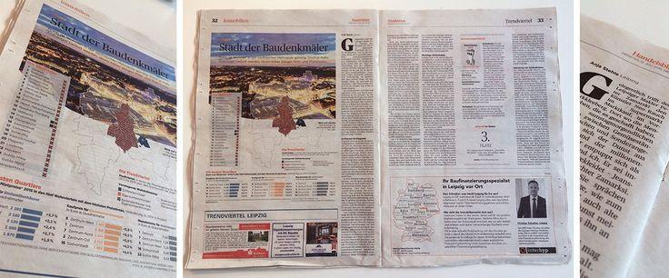 In der heutigen Ausgabe des Handelsblattes geht es unter anderem, wie sollte es auch anders sein, um #LeipzigLieblingsstadt. In der Stadt, in der sich Dima-Firmenchef Peter Zamarski und Künstler Neo Rauch beim Wocheneinkauf im Vorort Markkleeberg treffen, ist dem Aufschwung einfach keine Riegel vorzuschieben. #Leipzig #DimaImmobilien #Architektur #Zukunft #Kapital