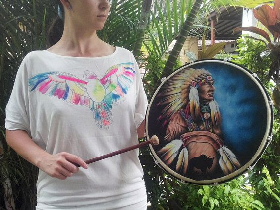 Native American Indian hand drum is an easily accessible tool for reconnecting with our deeper selves. Our hands connect with the hand drum that vibrates with our energy and vitality. In turn this calm us, centers us, and reconnects us with ourselves as well as with the world around us.