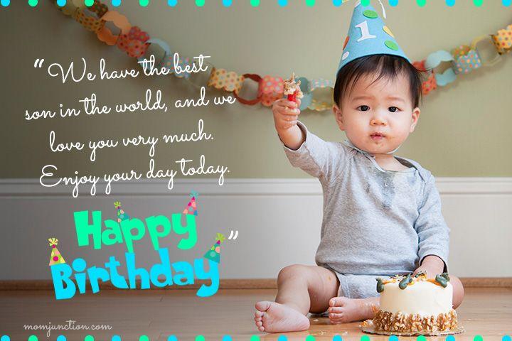 Happy 1st Birthday Wishes For Son Birthday Boy Quotes 1st Birthday Wishes Birthday Wishes For Kids