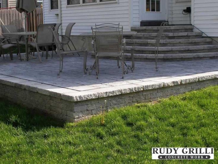47 best decks images on pinterest | patio decks, backyard ideas ... - Raised Concrete Patio Ideas