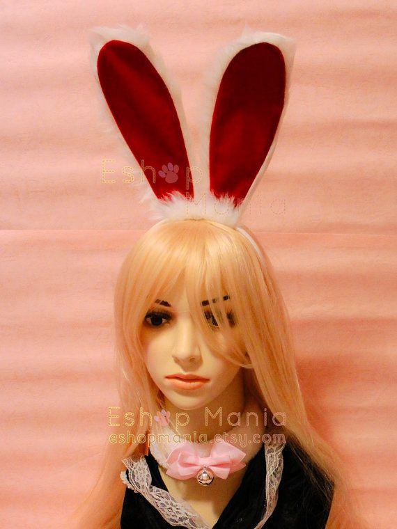 Bendable 20 cm white BUNNY Rabbit Ears Headband by eshopmania