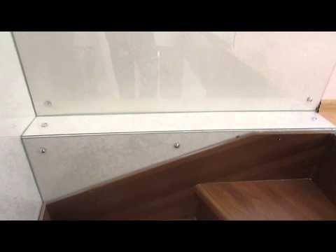 Облицовка стен стеклянными панелями - YouTube