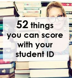 52 things you can score with your student ID College Tips #college #student best college tips
