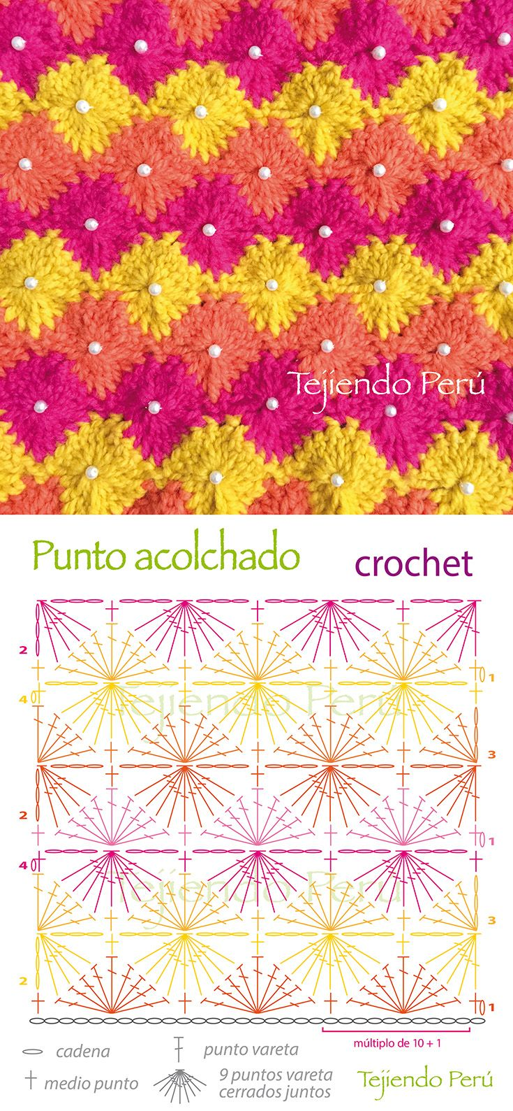 Best 189 Puntos fantasía en crochet - Crochet stitches images on ...