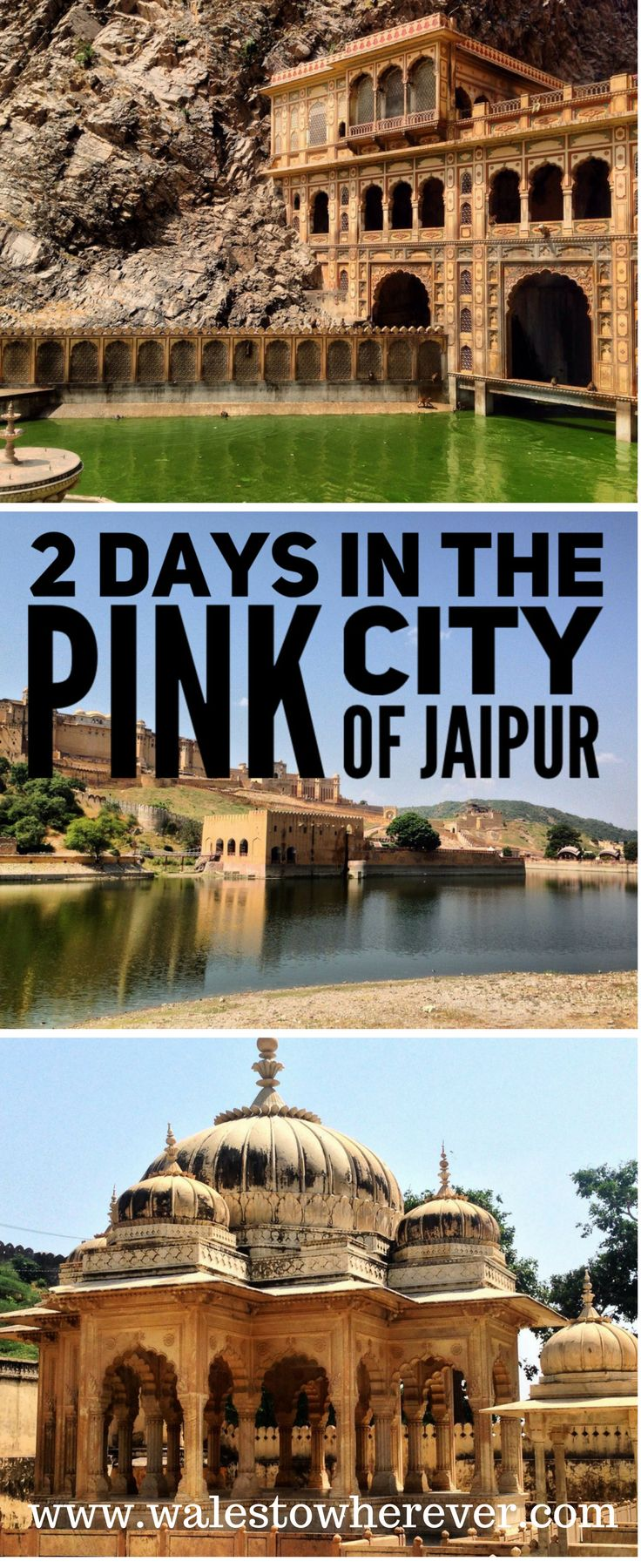 2 Days in the Pink City of Jaipur, India - What to do and see in 2 days in Jaipur, Rajasthan. Featuring Galtaji Monkey Temple, Amer Fort and Royal Gaitor!