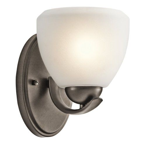 45117NI Calleigh 1LT Wall Sconce Brushed Nickel Finish With Satin Etched Cased Opal Glass