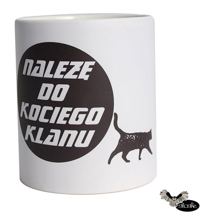 Należę do kociego klanu, kubek ceramiczny matowy 330ml