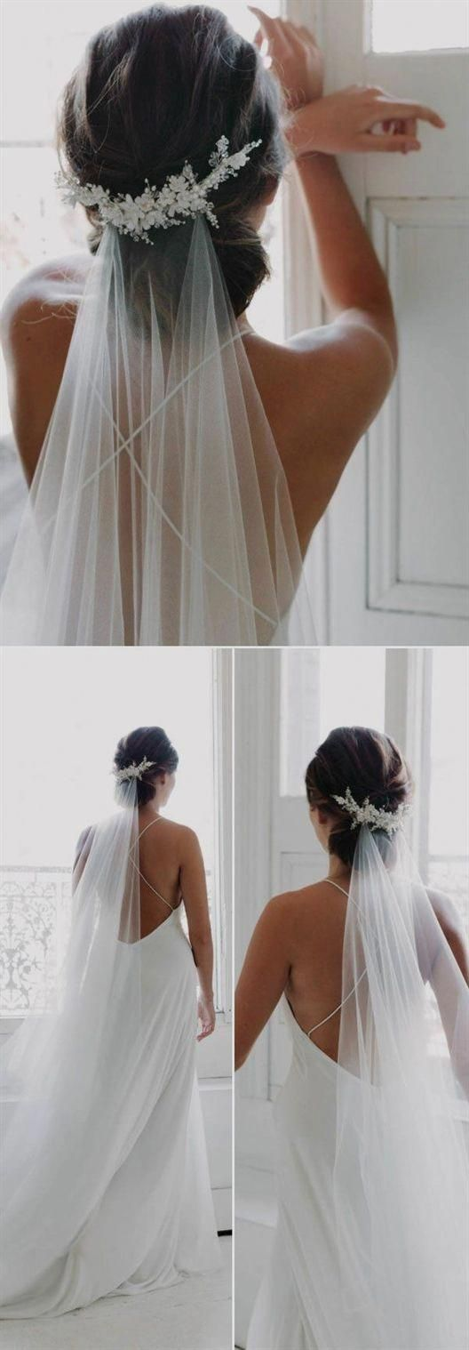 Top 20 Wedding Hairstyles with Veils and Accessories | Forevermorebling | Weddin... - wedding hairstyles updo - #Accessories #Forevermorebling #hairst...