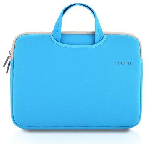 PLEMO Nylon Lykra Gewebe Tasche Hülle Aktentasche Sleeve für 38,1-39,6 cm (15-15,6 Zoll) Laptop / Notebook Computer / MacBook / MacBook Pro, Blau