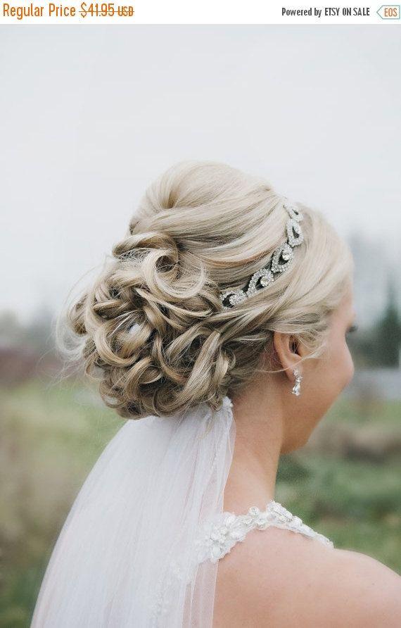 SUR le morceau de cheveux Bridal de vente mariée par BrassLotus