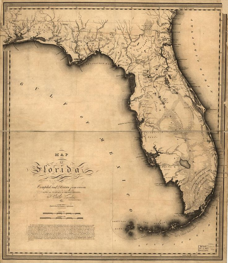 collage pictures of couple in shape of Florida with pins on significant places. frame and put on name card table.