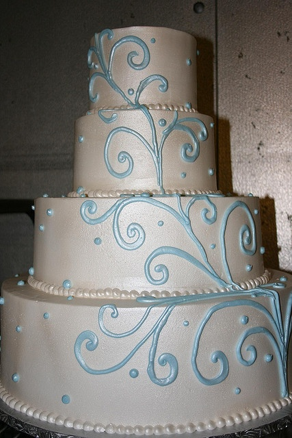 Tiffany Blue and White Pearlized Wedding Cake by Grove Pastry Shop in Lemon Grove, via Flickr