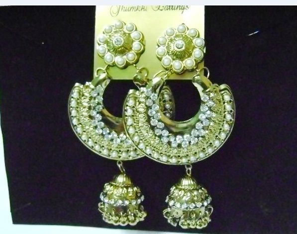 Buy PEARL CHANDELIER EARRINGS at Rs. 190 only..visit here- http://shwetajewelry.com/product/pearl-chandelier-earrings/