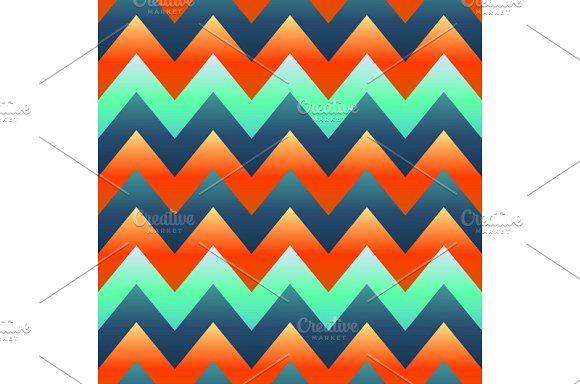 seamless retro Zig zag pattern  by Rommeo79 on @creativemarket