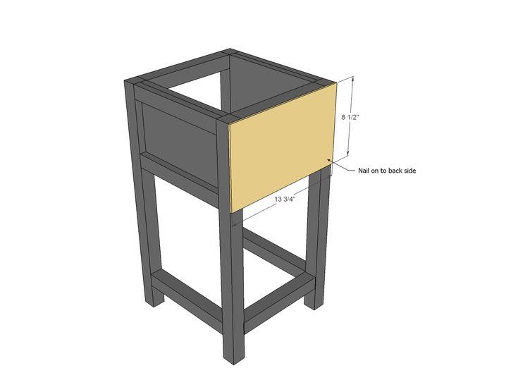 Ana White | Build a Mini Farmhouse Bedside Table Plans ...