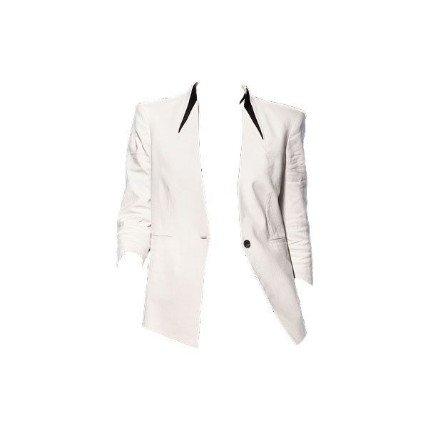 helmut lang ❤ liked on Polyvore featuring outerwear, jackets, blazers, coats, dolls, helmut lang blazer, white blazers, white blazer jacket, blazer jacket and helmut lang