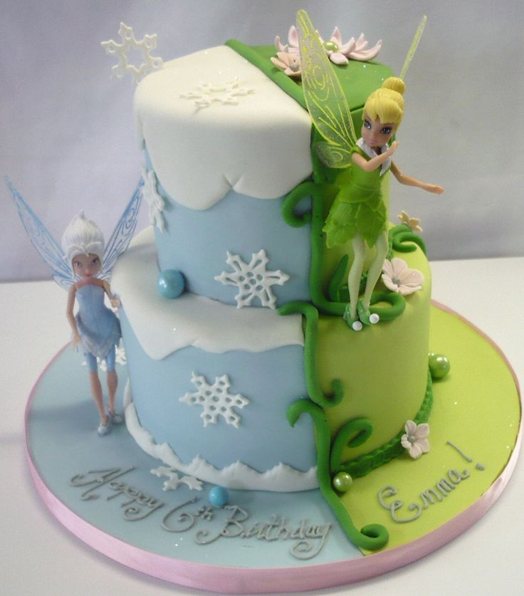 Tinkerbell & periwinkle cake