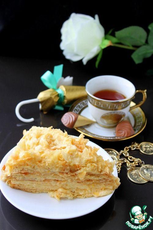 """Персиковый крем для торта """"Наполеон"""" - кулинарный рецепт"""