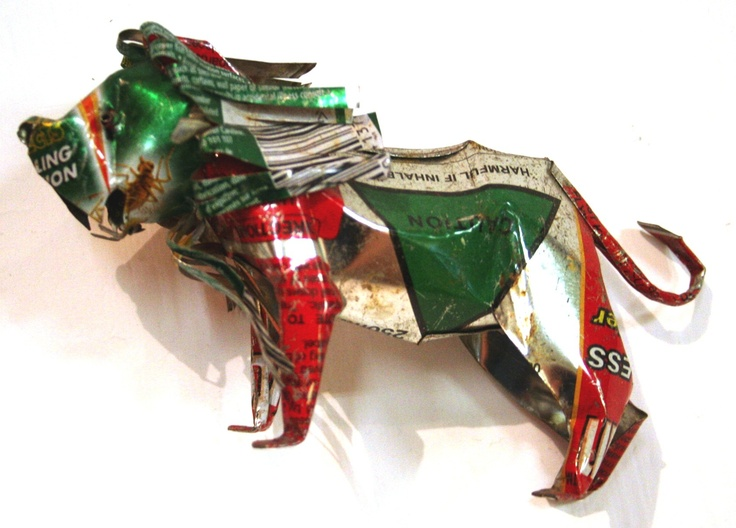 Lion Tin Recycled Artwork
