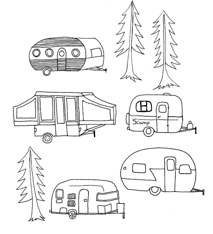 Free Images Of Vintage Campers Embroidery Patterns