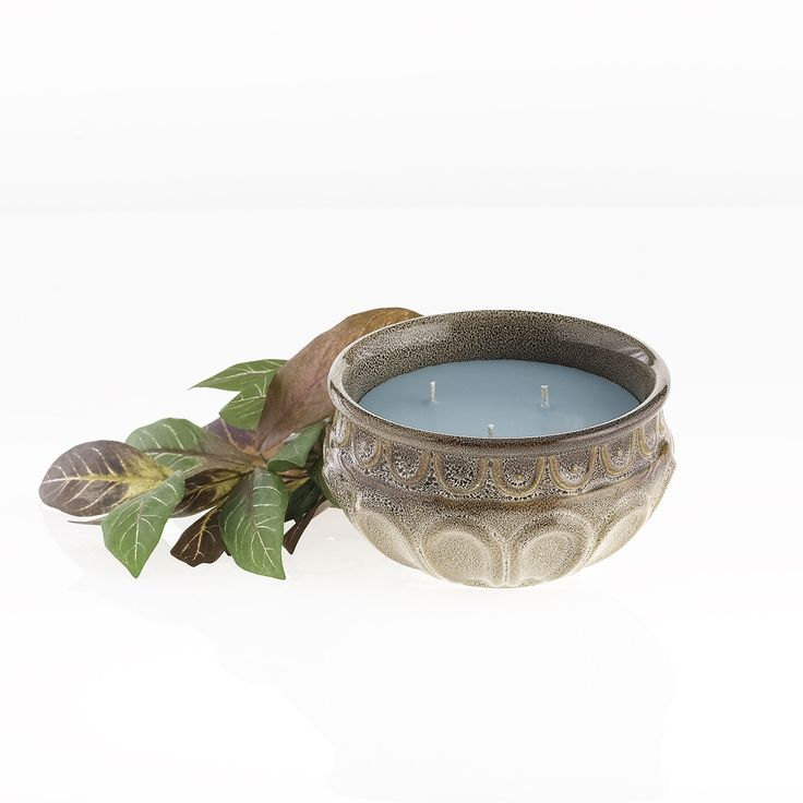 Neutral Stoneware Bowl Filled With A Clean Summer Scent Goes With All