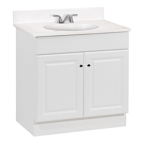 Project Source Richmond 30 In Bath Vanity With Top Lowe S Canada