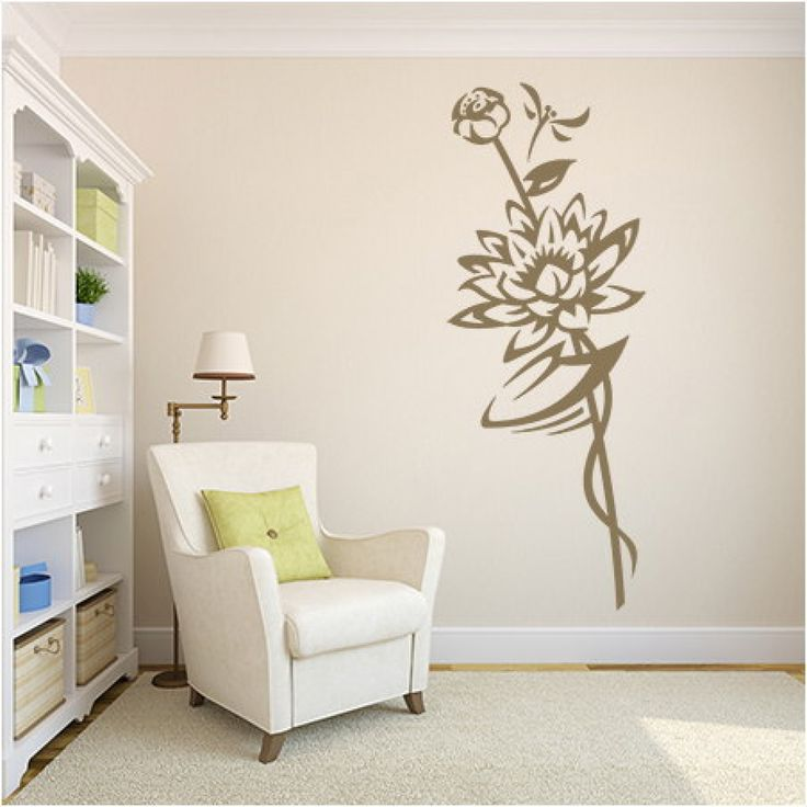 Flower Wall Stencil Ideas For Painting #KBHome Part 33