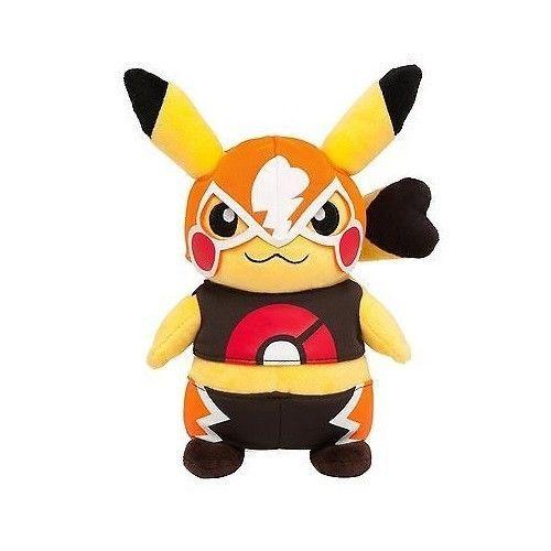 22cm Masked Pokemon Pikachu Plush Toys Stuffed Doll Boy and Girl