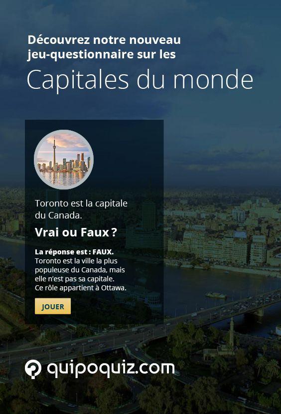 Partez à la découverte des capitales du monde avec ce jeu-questionnaire de Quipo Quiz.