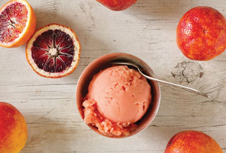 A dinner's not complete without a dessert to cap it off, and the Blood Orange Sorbet has a bright color and fresh taste to cap off a romantic meal