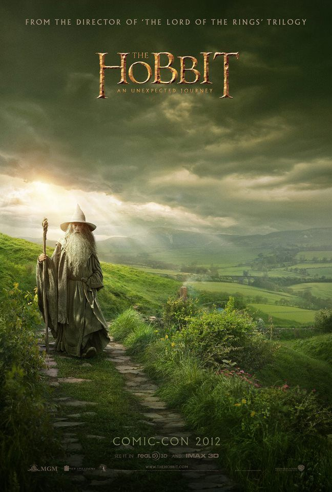 The Hobbit // One of the coolest posters at San Diego Comic-Con 2012. Peter Jackson posted this image of the upcoming Lord of the Rings prequel to his Facebook page.