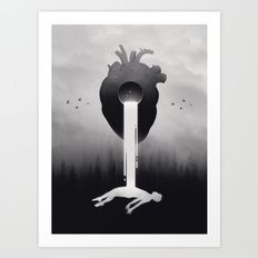 Art Print featuring Glimpse Of Light by Enkel Dika