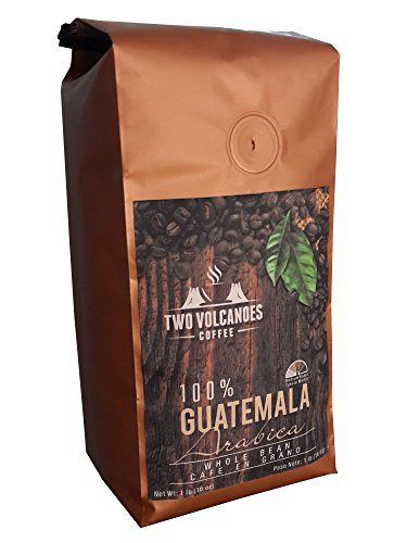 Two Volcanoes Whole Bean Coffee - Delicious From Organic Coffee Beans. Great for Espresso. Single-Origin, Exclusive Medium Roast From San Marcos, Guatemala. Cultivated, Processed & Packed in Origin to Guarantee Freshness & Best Possible Flavor. 16 Ounce Bag - http://teacoffeestore.com/two-volcanoes-whole-bean-coffee-delicious-from-organic-coffee-beans-great-for-espresso-single-origin-exclusive-medium-roast-from-san-marcos-guatemala-cultivated-processed-packed-in-origi