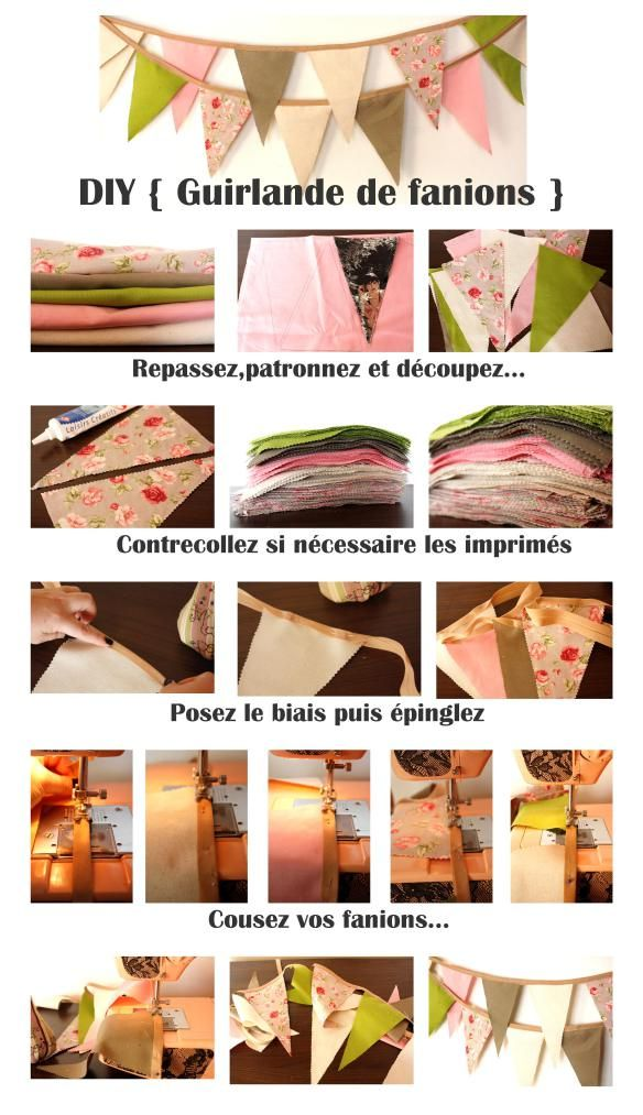 DIY {3} Une guirlande de fanions facile | The Perfect Day by Janine