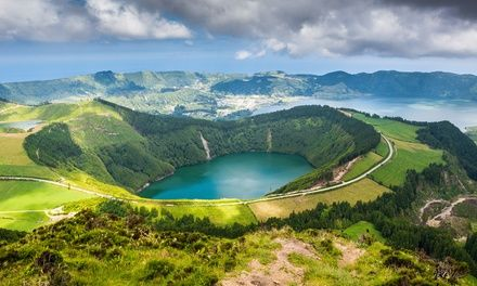 7-day vacation in the Azores islands off the coast of Portugal with round-trip airfare from Boston.