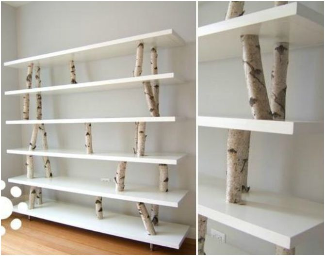 soportes con troncos un mundo de baldas