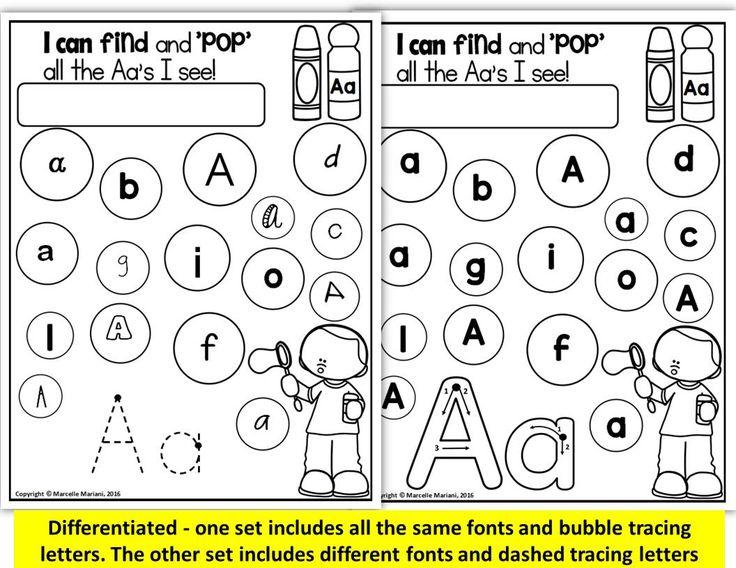 creative writing alphabets for kindergarten
