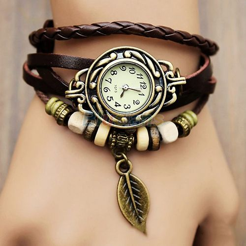 Cheap bracelet owl, Buy Quality pendant figure directly from China bracelet strand Suppliers:                              Min. order is 1pc.   Womens Retro Leather Bracelet Tree leaf Decoration Quartz Wrist W