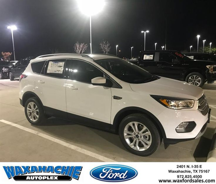 Ford small SUV. Perfect carrying passengers and cargo on your next road trip, grocery store run, or just down to the lake for the day. It�s also very kind to your budget!  https://deliverymaxx.com/DealerReviews.aspx?DealerCode=E749  #2018 #Escape #white #SUV #WaxahachieFord