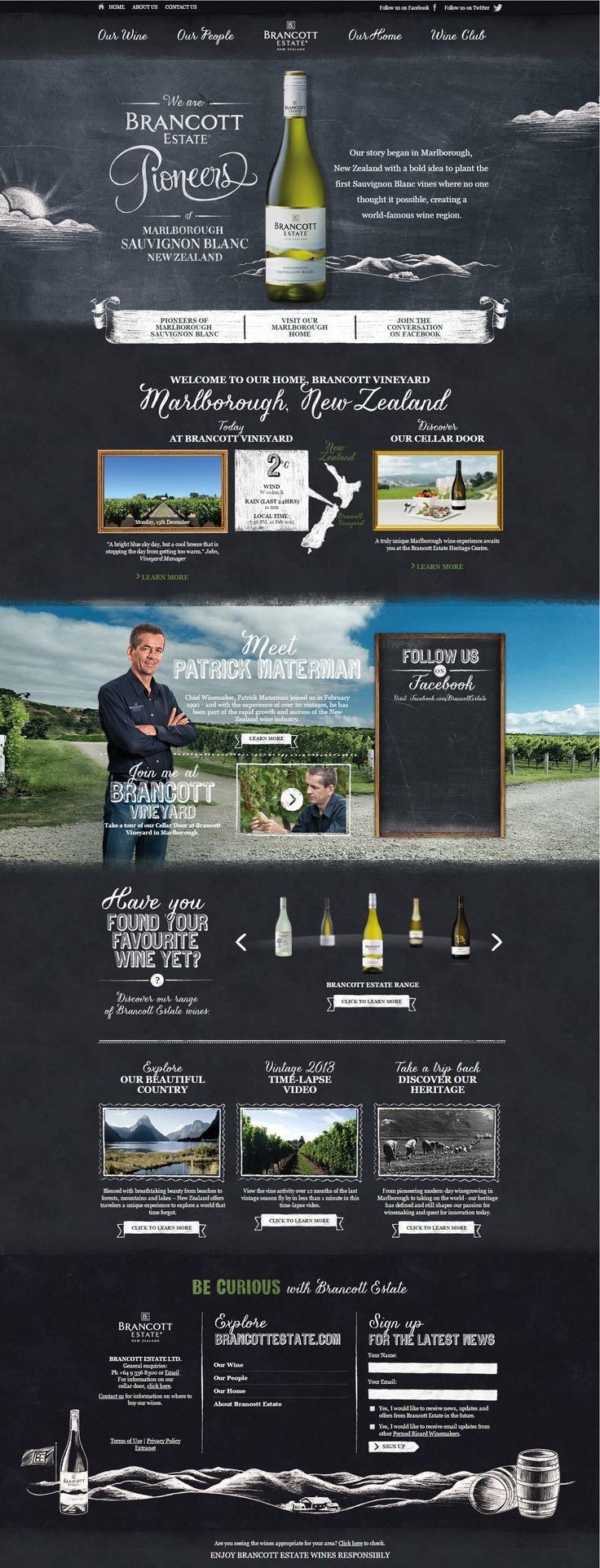 Brancott Estate. The wine pioneers. #webdesign