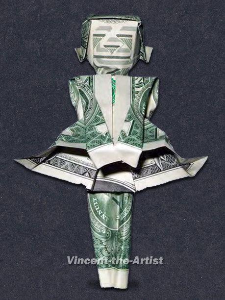 Money Origami Marilyn Monroe