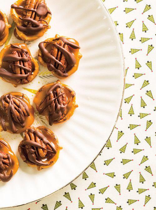 Bretzels au caramel et au chocolat Recettes   Ricardo